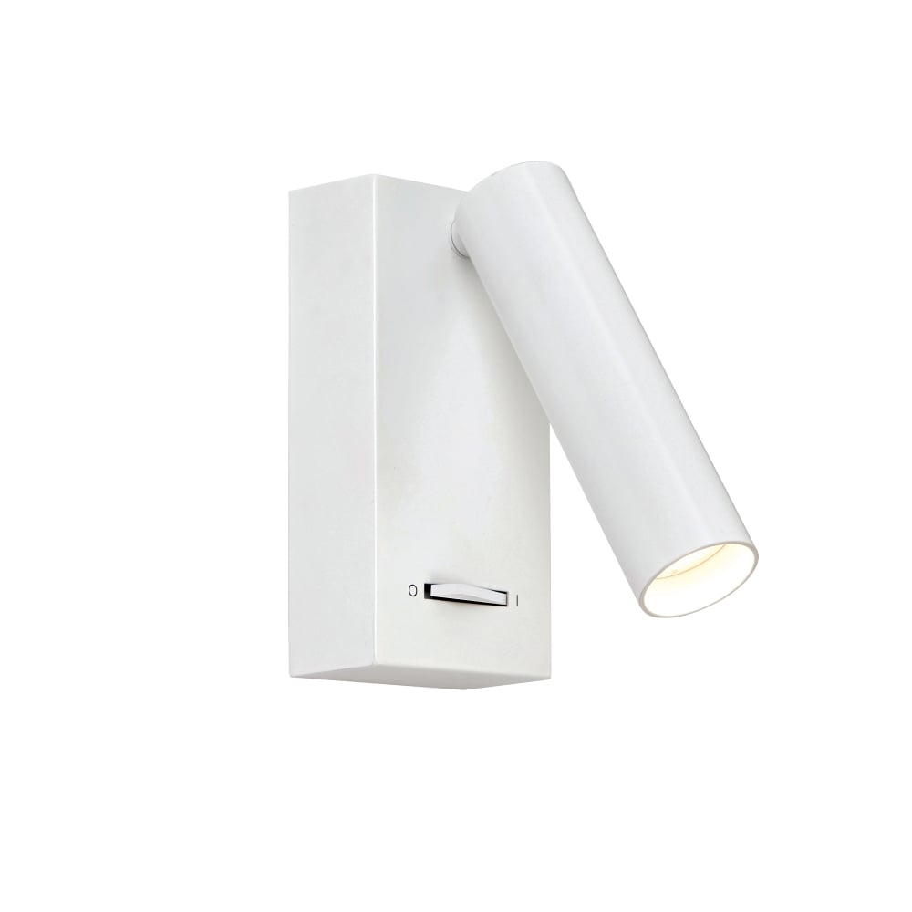 Switched Wall Light White : Endon Lighting Staten LED Switched Wall Light in White Finish - Lighting Type from Castlegate ...