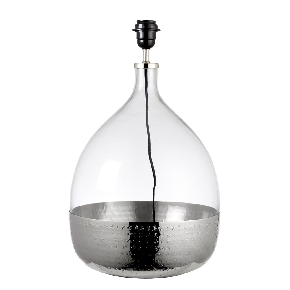 endon lighting sultan single light table lamp base only in clear glass and bright nickel finish. Black Bedroom Furniture Sets. Home Design Ideas