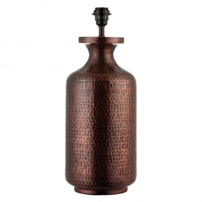 Endon Lighting Suri Single Light Table Lamp Base Only in Antique Copper Finish