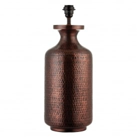 Suri Single Light Table Lamp Base Only in Antique Copper Finish
