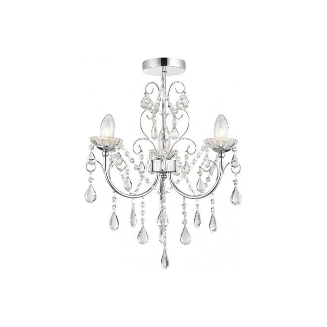Flush Chandelier Endon lighting tabitha 3 light semi flush bathroom chandelier in tabitha 3 light semi flush bathroom chandelier in polished chrome finish with crystal glass detail audiocablefo