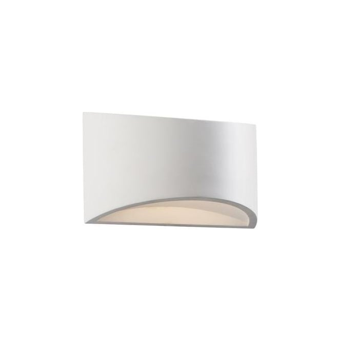 Endon Lighting Toko Single Light LED Small Ceramic Wall Fitting In White Finish