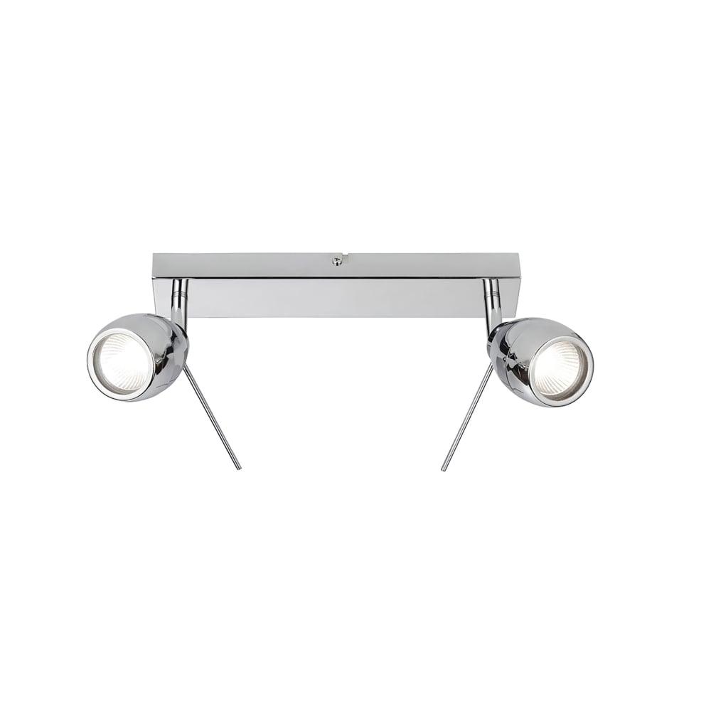 Halogen Ceiling Lights For Bathrooms: Endon Lighting Travis 2 Light Halogen Bathroom Spot Light