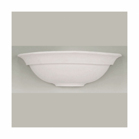 UG-WB-G Single Light Ceramic Wall Fitting In White Finish