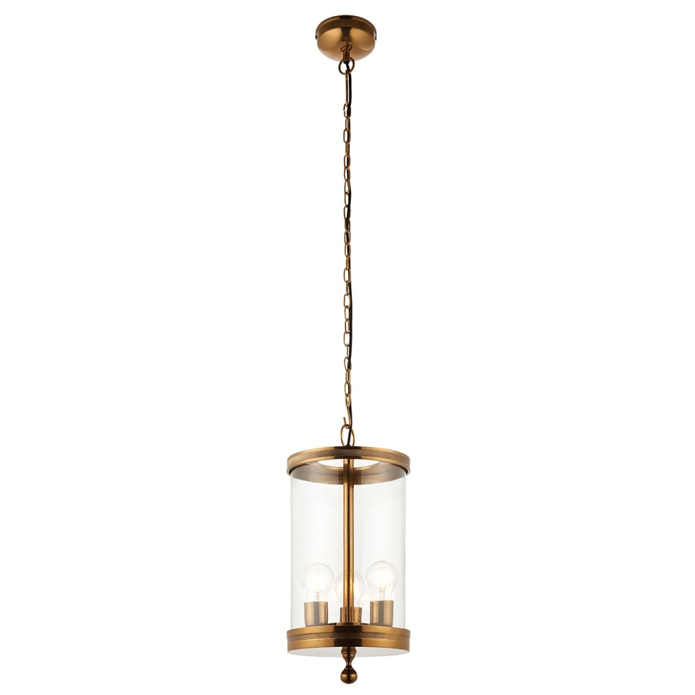 Endon Lighting Vale 3 Light Ceiling Pendant In Antique