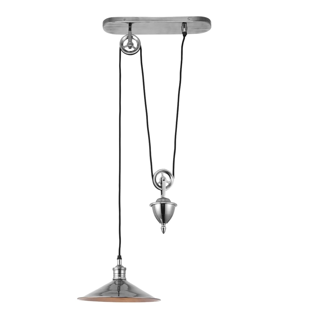 Endon Lighting Victoria Single Light Rise And Fall Ceiling