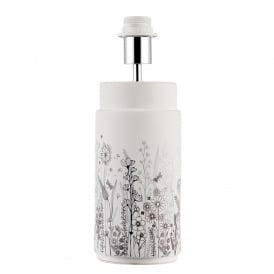 Wild Meadow Single Light Table Lamp Base Only in Matt White Ceramic