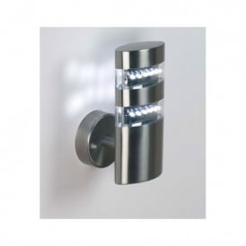 YG-4000-SS Radian Single Light LED Outdoor Wall Fitting In Stainless Steel Finish