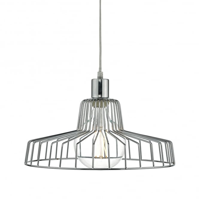 Dar Lighting Enid Easy Fit Ceiling Pendant Shade in Polished Chrome Finish