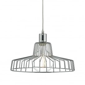 Enid Easy Fit Ceiling Pendant Shade in Polished Chrome Finish