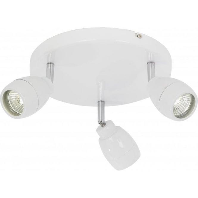 Halogen Ceiling Lights For Bathrooms: Endon Lighting Enluce 3 Light Halogen Bathroom Spot Light