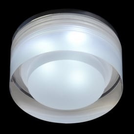 Enluce LED Single Light Round Recessed Bathroom Shower Light In Polished Chrome And Acrylic Finish