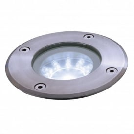 Enluce Single Light White LED Small Driveover Or Walkover Light With Stainless Steel Finish