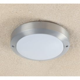 Enluce Twin Light Low Energy Outdoor Flush Ceiling Or Wall Fitting In Silver Finish