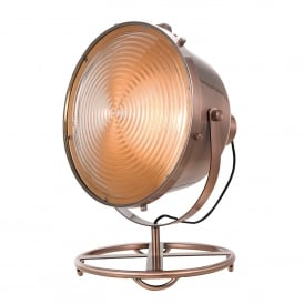 Erik Single Light Studio Floor Lamp In Antique Copper Finish