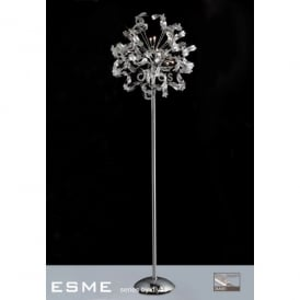 Esme 12 Light Polished Chrome Floor Lamp with Asfour Crystals