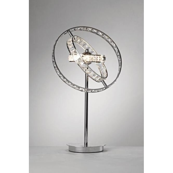 Dar Lighting Eternity 4 Light Table Lamp In Polished Chrome And Crystal Finish