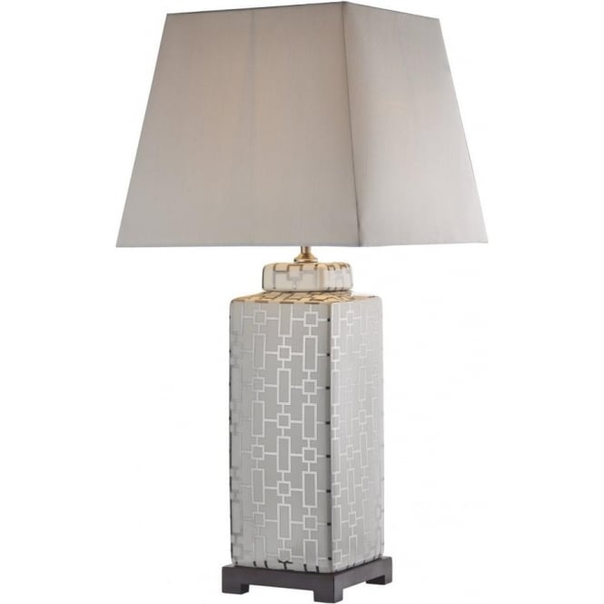 Dar Lighting Evelyn Single Light Chrome Table Lamp