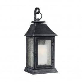 Feiss Shepherd Single Light Extra Large Outdoor Wall Fitting In Dark Weathered Bronze Finish