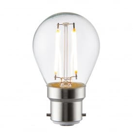 Filament Style 2.4w Golf Ball LED Bulb with B22 Type Socket