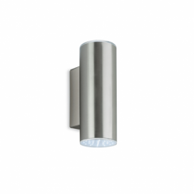 2 Light LED Stainless Steel Outdoor Wall Fitting