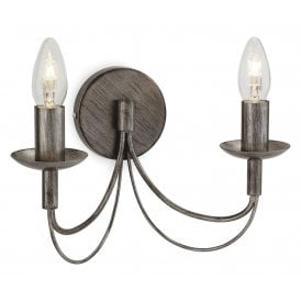 2316AS Regency 2 Light Wall Fitting in Antique Silver