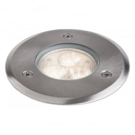 3 Light Outdoor LED Walkover Light with a Stainless Steel Finish