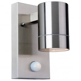 3428ST Colt Single Light Outdoor Wall Lamp with PIR Sensor in Stainless Steel Finish
