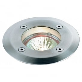 6005ST Walkover Single Light in Stainless Steel Finish with Glass Diffuser