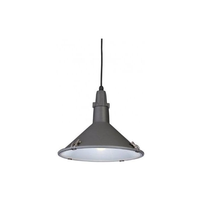 Firstlight 8313GR Eden Low Energy Single Light Ceiling Pendant in a Grey Finish