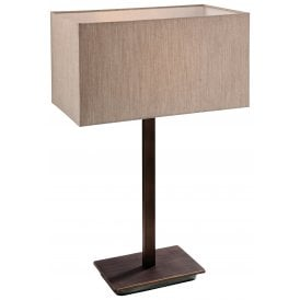8329BZOY Prince Single Light Table Lamp in Bronze with Oyster Shade