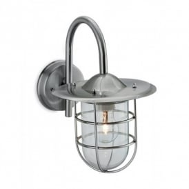 8352ST Cage Single Light Outdoor Wall Fitting in Stainless Steel