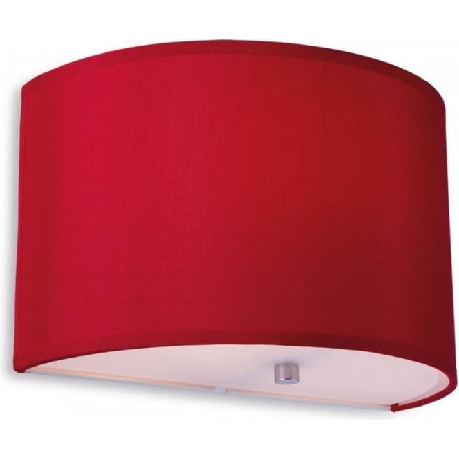 Firstlight 8631REWH Zeta Single Light Red Wall Sconce with a White Interior and Frosted Diffuser