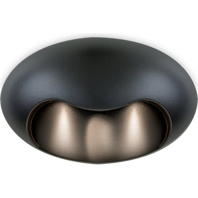 Firstlight Ace 3 Light LED Oval Shaped Outdoor Wall Fixture in Graphite Grey