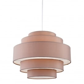 Apollo Single Light Ceiling Pendant In Taupe Finish