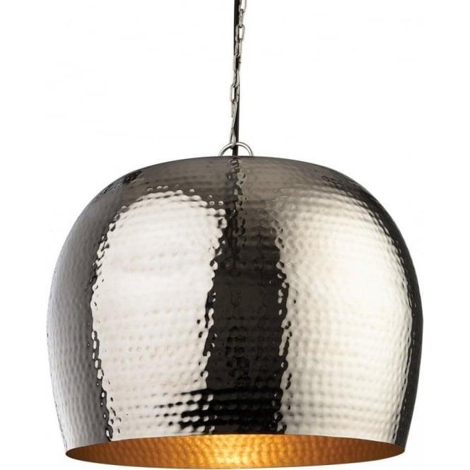 Pendant Lighting Ceiling Lights Fixtures Inside Assam Large Single Light Ceiling Pendant With Nickel And Matt Brass Finishes Firstlight