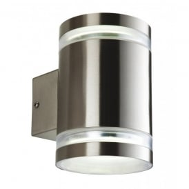 Atlas Low Energy 2 Light Wall Lamp in Stainless Steel Finish