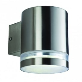 Atlas Low Energy Single Light Wall Lamp in Stainless Steel Finish