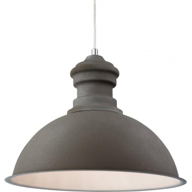 Firstlight Aztec Single Light Ceiling Pendant in a Rough Sand Concrete Finish