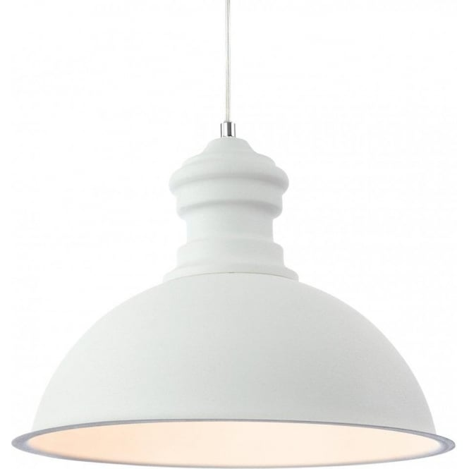 Firstlight Aztec Single Light Ceiling Pendant in a Rough Sand White Finish