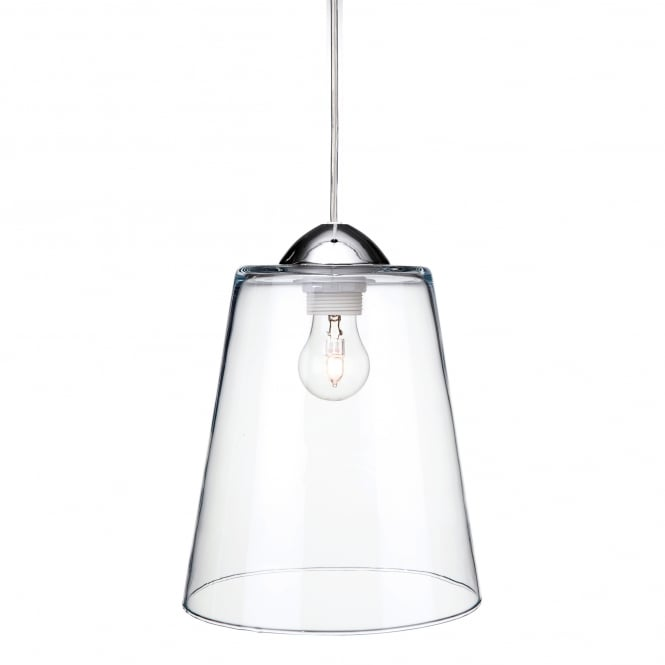 Firstlight Bordeaux Single Light Ceiling Pendant In Polished Chrome And Clear Glass Finish
