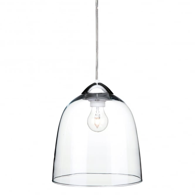 Firstlight Bordeaux Single Light Ceiling Pendant In Polished Chrome Finish With Clear Glass Shade