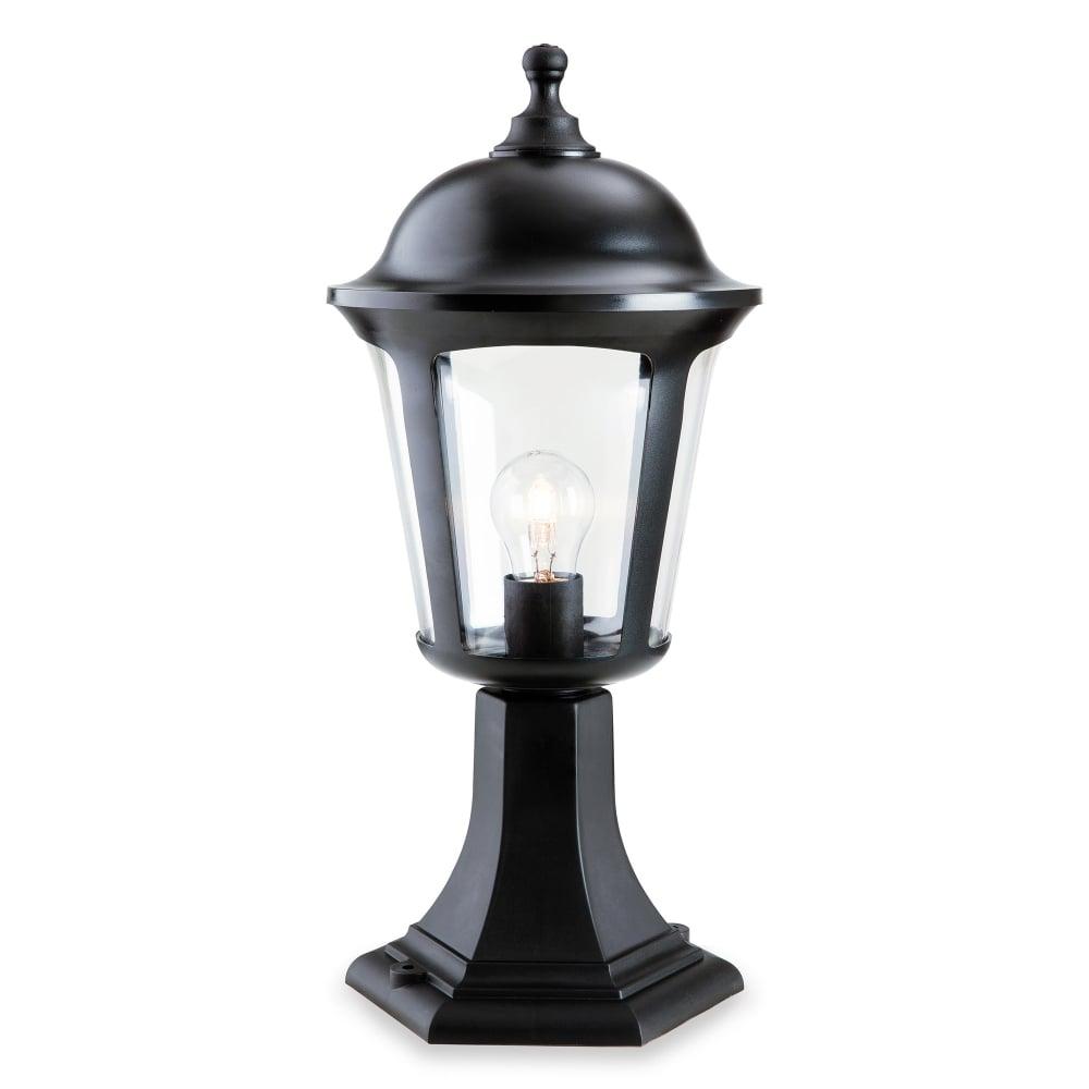 firstlight boston single light outdoor pillar light in black finish