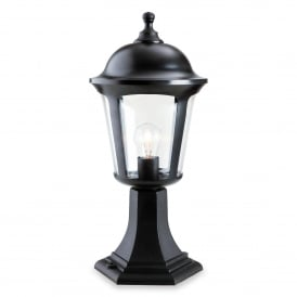 Boston Single Light Outdoor Pillar Light In Black Finish