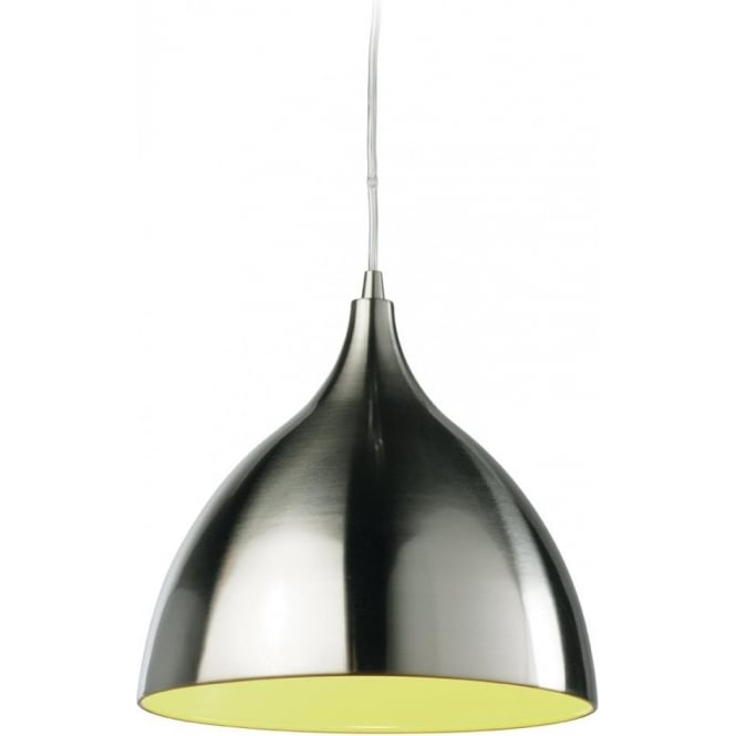 Firstlight Cafe Single Light Ceiling Pendant with Green Inside