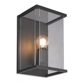 Carlton Single Light Outdoor Wall Fitting In Graphite Finish With Clear Glass