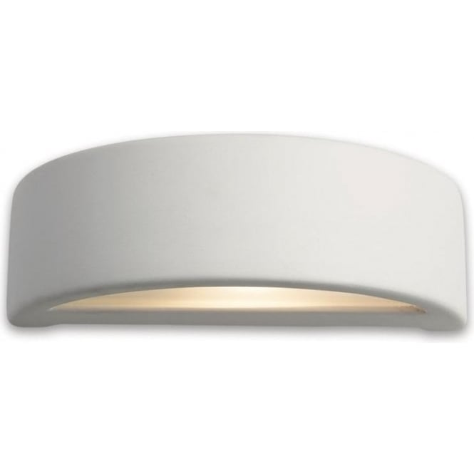 Firstlight Ceramic Single Light Wall Light in an Unglazed Finish with Acid White Glass