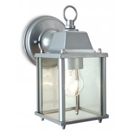 Coach Single Light Die Cast Aluminium Outdoor Wall Lantern In Silver Finish
