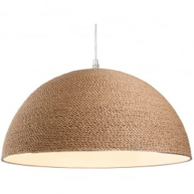 Coast Single Light Ceiling Pendant in Brown Rope Finish