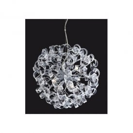 Cosmic 6 Light Moulded Glass Ceiling Pendant
